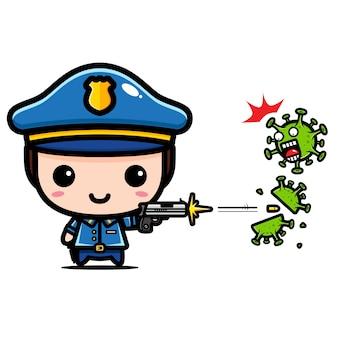 Politieontwerp tegen coronavirus