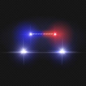 Politiewagen koplampen