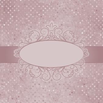 Polka dot-ontwerp met halftoon.