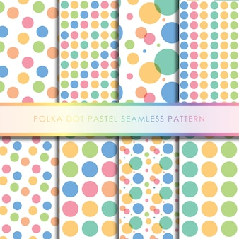 Polka dot pastel naadloze patroon collectie