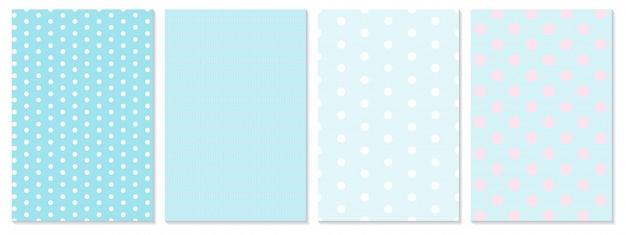 Polka dot patroon. baby achtergrond. blauwe kleur.