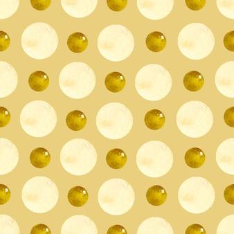 Polka dot vintage naadloze patroon op bruine achtergrond