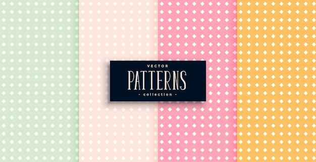 Polka dots patronen set van vier