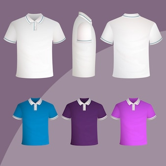 Polo shirt collectie concept