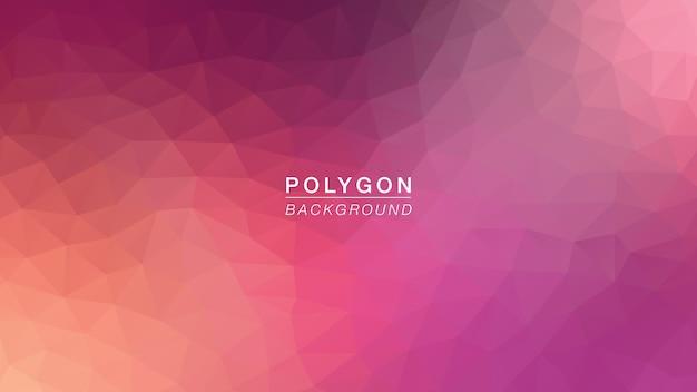 Polygoon burry paars oranje