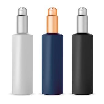 Pompfles, cosmetische dispenserverpakking voor serum