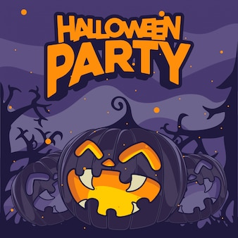 Pompoen achtergrond voor halloween-feest