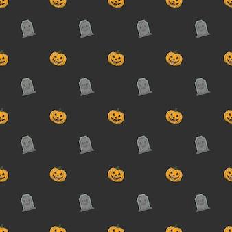 Pompoen halloween naadloos patroon