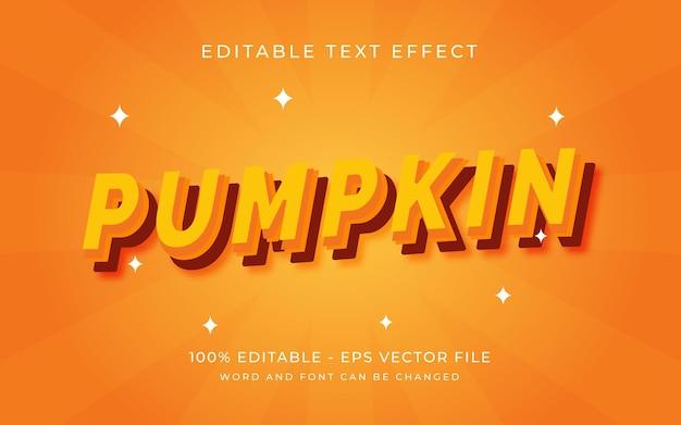 Pompoen met modern bewerkbaar teksteffect in duidelijke stijl