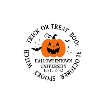 Pompoen op witte achtergrond oranje pompoen met glimlach voor uw ontwerp voor de vakantie halloween