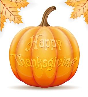 Pompoen thanksgiving vector illustratie