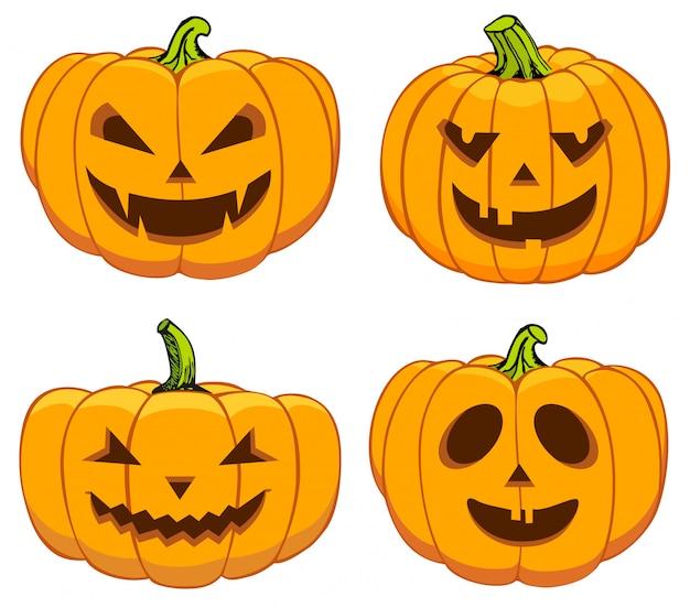 Pompoenen instellen voor halloween
