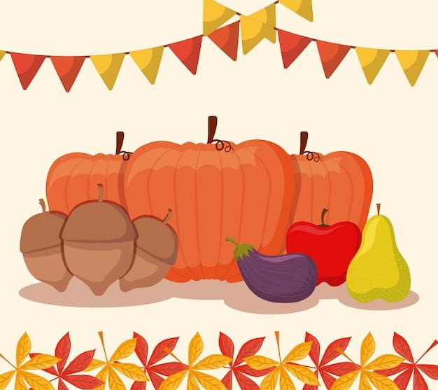 Pompoenenvoedsel voor thanksgiving day