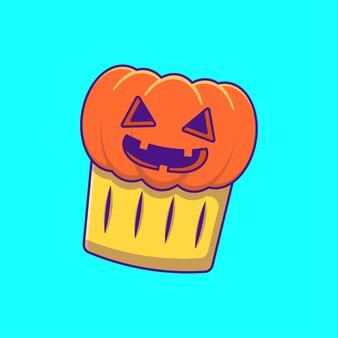 Pompoentaart happy halloween cartoon illustraties