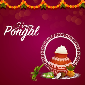 Pongal viering achtergrond