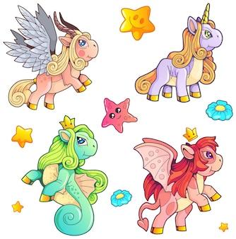Pony's ingesteld