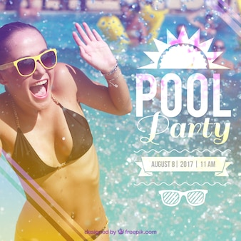 Poolfeest uitnodiging