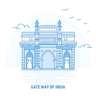 Poort manier van india blauw oriëntatiepunt