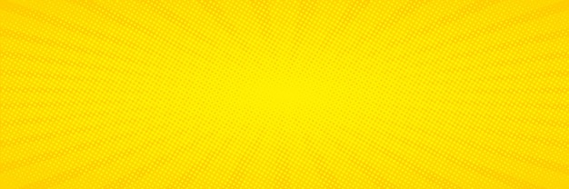 Pop-art. achtergrond met stippen. gele komische achtergrond. cartoon grappig retro patroon. vector illustratie