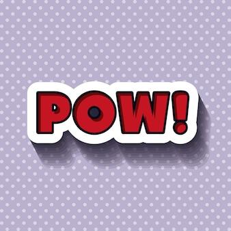 Pop art bericht ontwerp