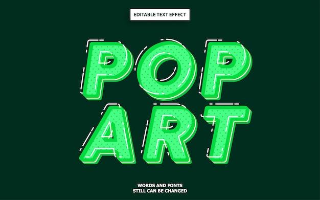 Pop-art bewerkbare tekststijl
