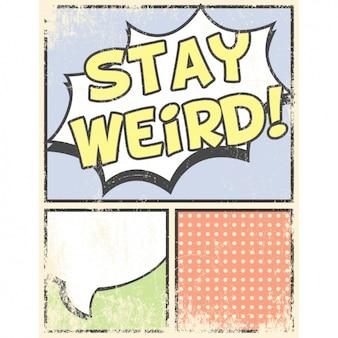 Pop-art grunge kaart met motto