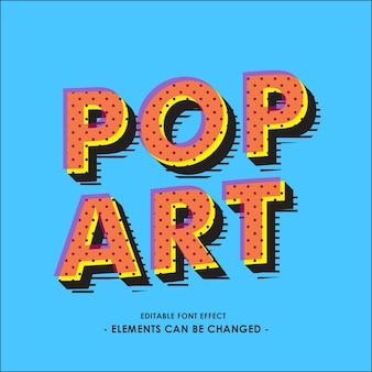 Pop-art lettertype-effect