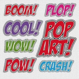 Pop-art ontwerp