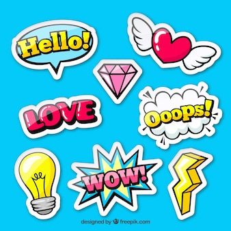 Pop-art pack van originele stickers