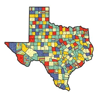 Pop-art stijl texas kaart