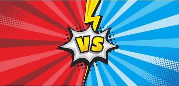 Pop-art strip versus kleurrijke achtergrond