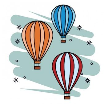 Pop-art van hete luchtballon