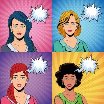 Pop-art vrouwen