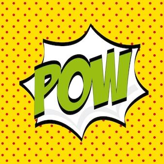Pop-artontwerp, vector grafische illustratie eps10