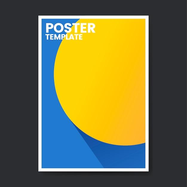 Pop kleur poster sjabloonontwerp