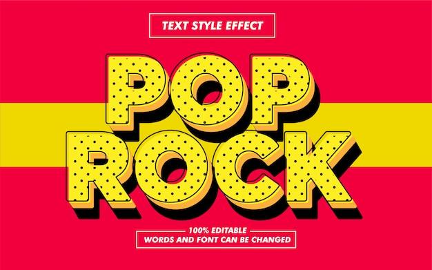 Pop rock-stijlstijleffect