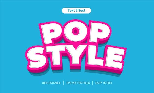 Pop-stijl leuk bewerkbaar teksteffect