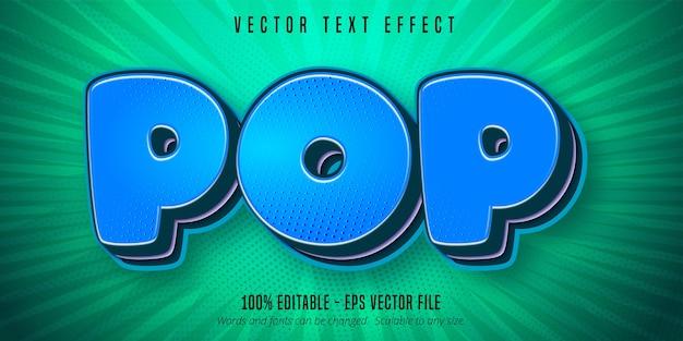 Pop-tekst, bewerkbaar teksteffect in pop-artstijl