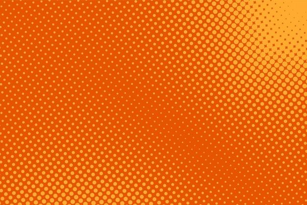 Popart achtergrond. halftoon komisch patroon. oranje textuur met punten. cartoon retro textuur.