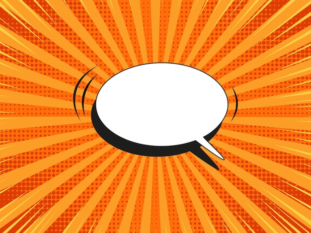 Popart achtergrond. komische halftoonpatroon. oranje cartoonbanner. duotone superheld textuur. vector