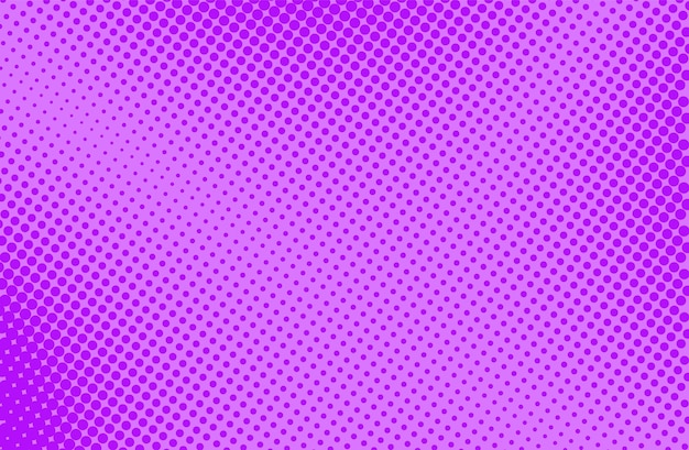 Popart halftone achtergrond. komisch patroon. paarse afdruk. cartoon retro textuur. vector illustratie