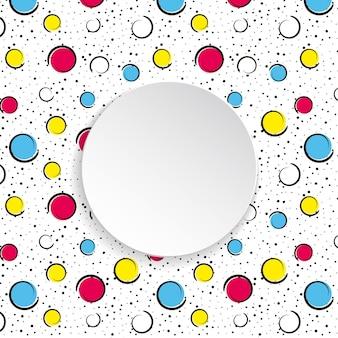 Popart kleurrijke confetti