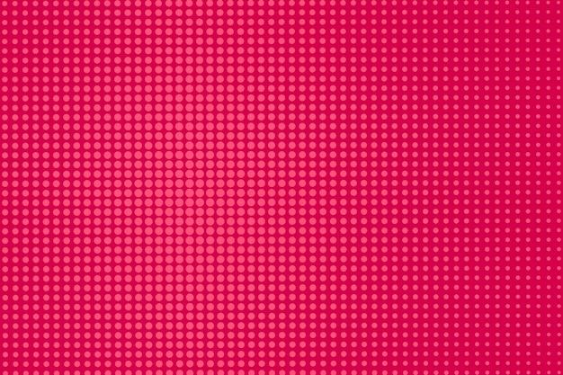 Popart komische achtergrond. halftoon gestippeld patroon. rode afdruk. cartoon textuur. superheld textuur