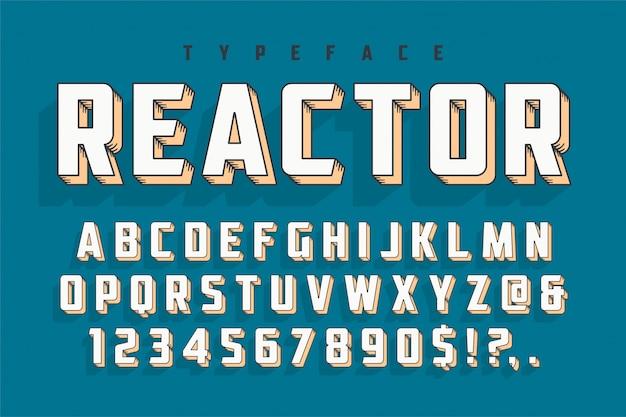 Popart-ontwerp van het retro-lettertype van de reactor