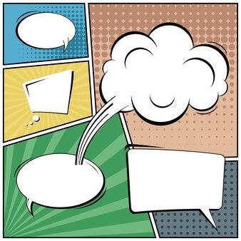 Popart strip met spaties op blanco