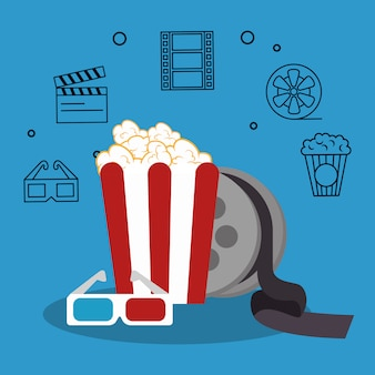Popcorn cinema enterainment