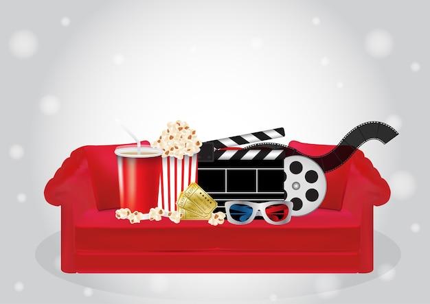 Popcorn drink afstandsbediening dvd filmdoos 3d glasfilm