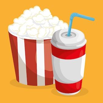 Popcorn en frisdrank fastfood