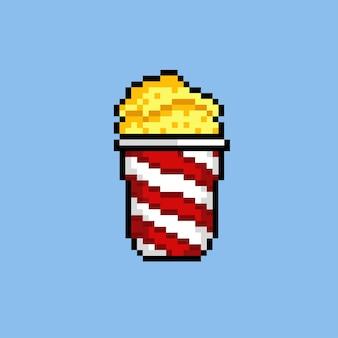 Popcorn met pixelkunststijl
