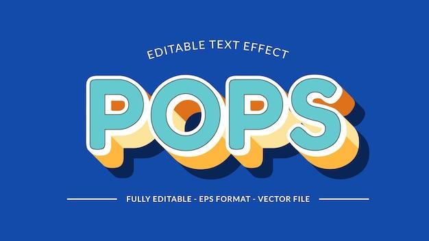 Pops retro-teksteffect